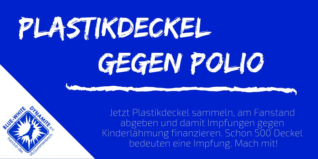Plastikdeckel gegen Polio